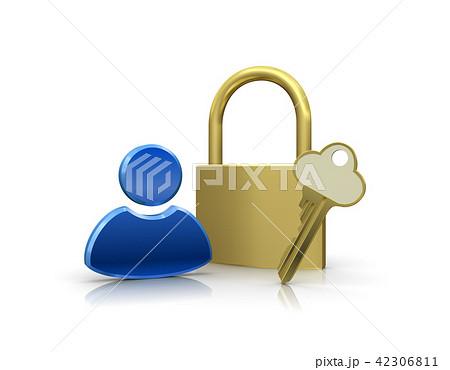 個人情報を保護するセキュリティイメージ 42306811