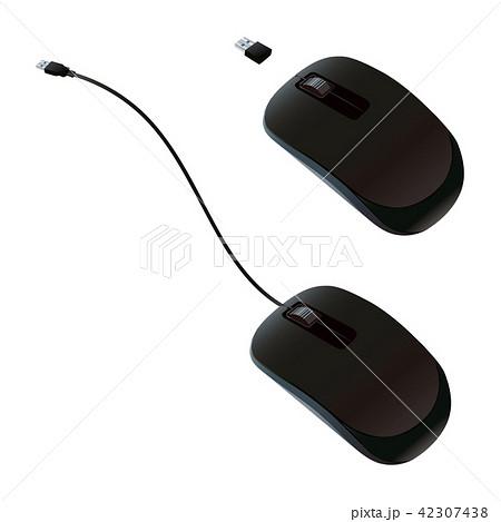 有線マウスと無線マウスのイラスト素材 42307438 Pixta