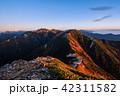 夜明け 常念岳 飛騨山脈の写真 42311582