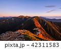 夜明け 常念岳 飛騨山脈の写真 42311583