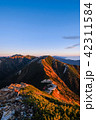夜明け 常念岳 飛騨山脈の写真 42311584