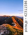 夜明け 常念岳 飛騨山脈の写真 42311586