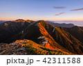 夜明け 常念岳 飛騨山脈の写真 42311588
