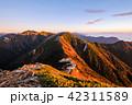 夜明け 常念岳 飛騨山脈の写真 42311589