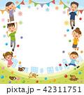 家族 三世代 三世代家族のイラスト 42311751
