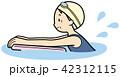 スイミング ビート板 シニアのイラスト 42312115