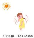 熱中症 ベクター 人物のイラスト 42312300