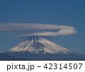 二重笠雲を被った富士の山 42314507