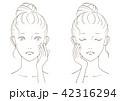 美容 女性 線画のイラスト 42316294