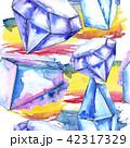 結晶 鉱物 バックグラウンドのイラスト 42317329