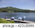 長野県麻績村 聖湖と三峯山 42318990