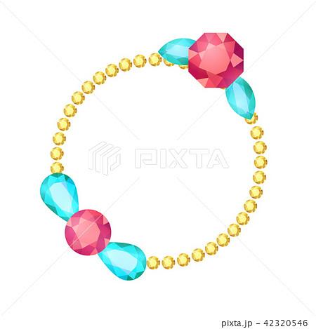 Cartoon gem circle frame 42320546