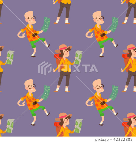 Traveler people searching right direction on map vector traveling freedom and active character 42322805