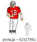 アメリカンフットボール 選手 ユニフォームのイラスト 42327961