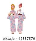 浴衣 女性 外国人のイラスト 42337579