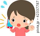 電話 携帯電話 女性のイラスト 42337787