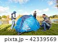 ファミリー 家族 キャンプの写真 42339569