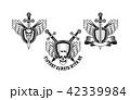 ベクトル どくろ 髑髏のイラスト 42339984