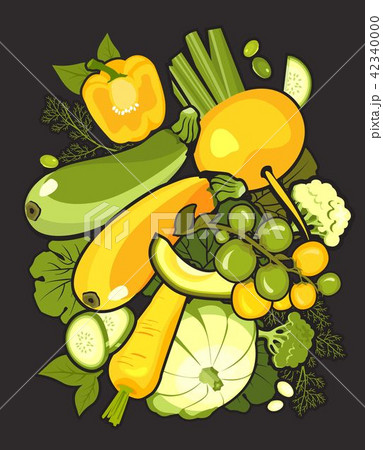 collection of ripe vegetables 42340000