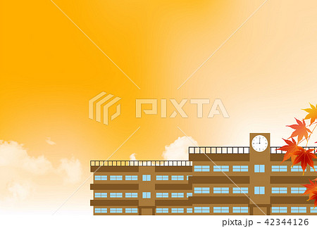 学校 建物 秋 背景  42344126