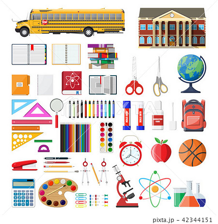Big school set. School supplies, stationery 42344151