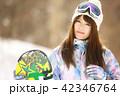 スノーボード スノボー 女性の写真 42346764