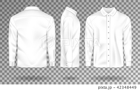 blank male shirt template realistic men s shirt with long sleeves