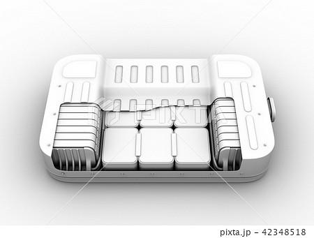 クレイレンダリングの電気自動車用バッテリーパックのカットモデル 42348518
