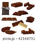 チョコレート 食 料理のイラスト 42348731