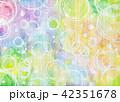 背景素材 水彩テクスチャー 虹 レインボー 42351678