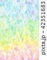 背景素材 水彩テクスチャー 虹 レインボー 42351683