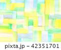 背景素材 水彩テクスチャー 虹 レインボー 42351701