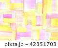 背景素材 水彩テクスチャー 虹 レインボー 42351703
