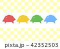 亥年 イノシシ 年賀状素材のイラスト 42352503