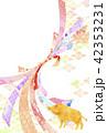 年賀状 熨斗 亥年のイラスト 42353231
