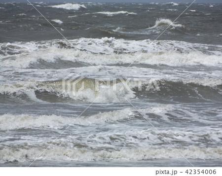 稲毛海岸の白い波 42354006