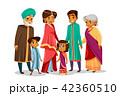 インド人 漫画 ファミリーのイラスト 42360510