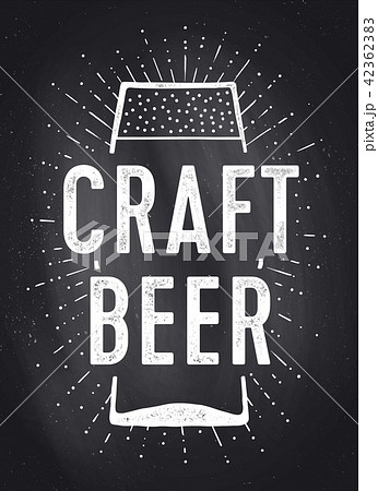 Craft Beer. Poster or banner 42362383