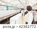 電車待ちイメージ シニア女性 プチ旅行 42362772
