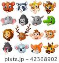 動物 キャラクター 文字のイラスト 42368902