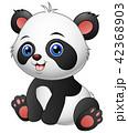動物 キャラクター 文字のイラスト 42368903