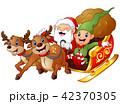 クリスマス エルフ となかいのイラスト 42370305