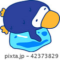 青いペンギン 暑い 猛暑 汗 42373829