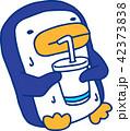 青いペンギン 暑い 猛暑 汗 42373838