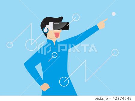 Man using virtual reality headset 42374545