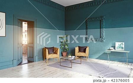 modern living room interior のイラスト素材 42376005 pixta