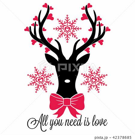 deer all you need is loveのイラスト素材 42378685 pixta