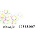 背景素材 水彩テクスチャー 虹 レインボー 42383997