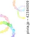 背景素材 水彩テクスチャー 虹 レインボー 42384009