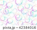 背景素材 水彩テクスチャー 虹 レインボー 42384016